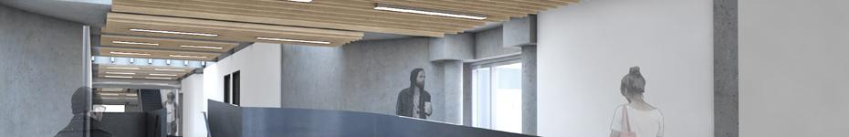 office of mcfarlane biggar architects + designers, Burnaby, SFU Education Building Envelope + Interiors + Signage