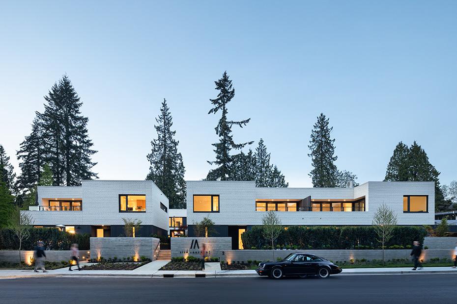office of mcfarlane biggar architects + designers, North Vancouver, British Columbia, Canada, Edgemont Boulevard Townhomes