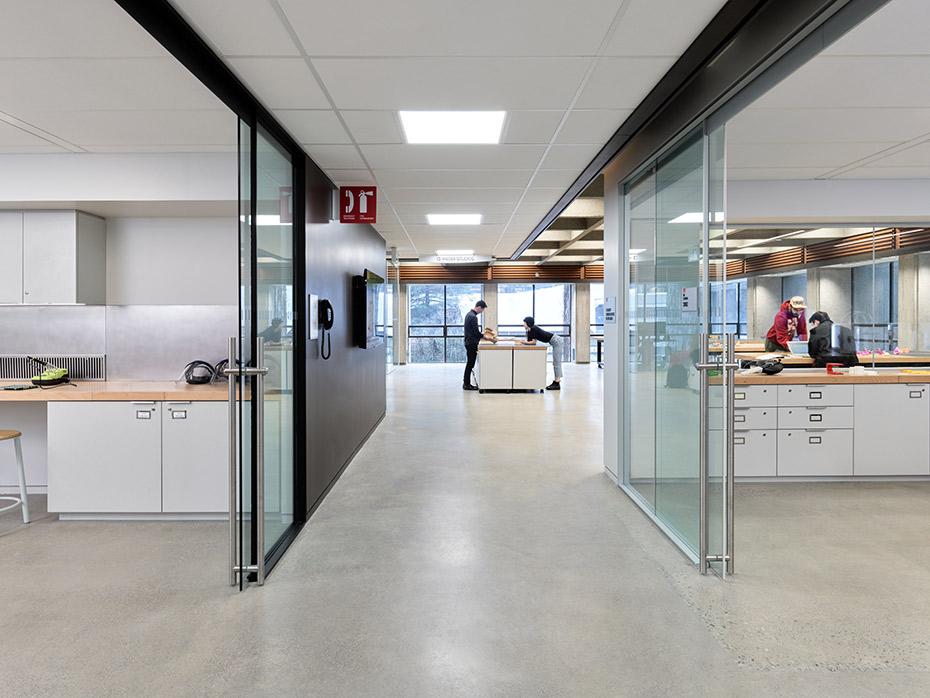 office of mcfarlane biggar architects + designers, Burnaby, BC, SFU WAC Bennett Library Maker Commons